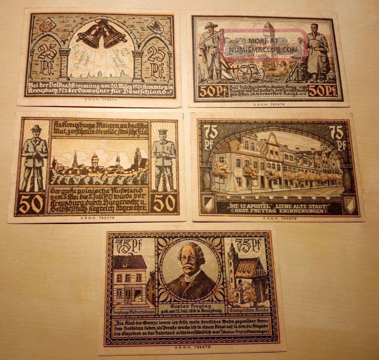 1921 Notgeld Kreuzburg In Oberschlesien Complete Series Europe photo
