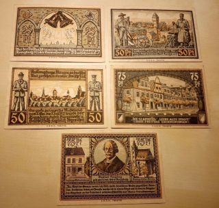 1921 Notgeld Kreuzburg In Oberschlesien Complete Series photo
