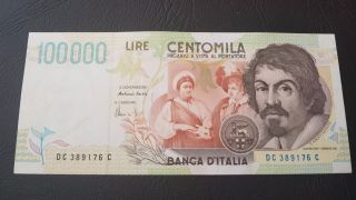 Italy 100 000 Lire 1994 P - 117 In Outstanding photo