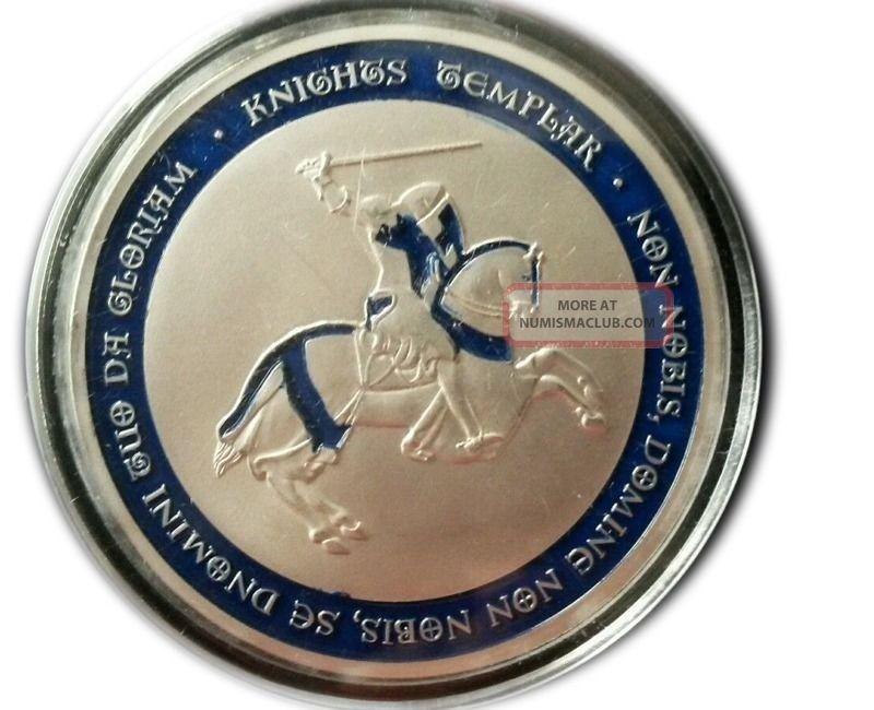 Knights Templar Coin - Blue Cross / Masonic Coin.  999 Silver Exonumia photo