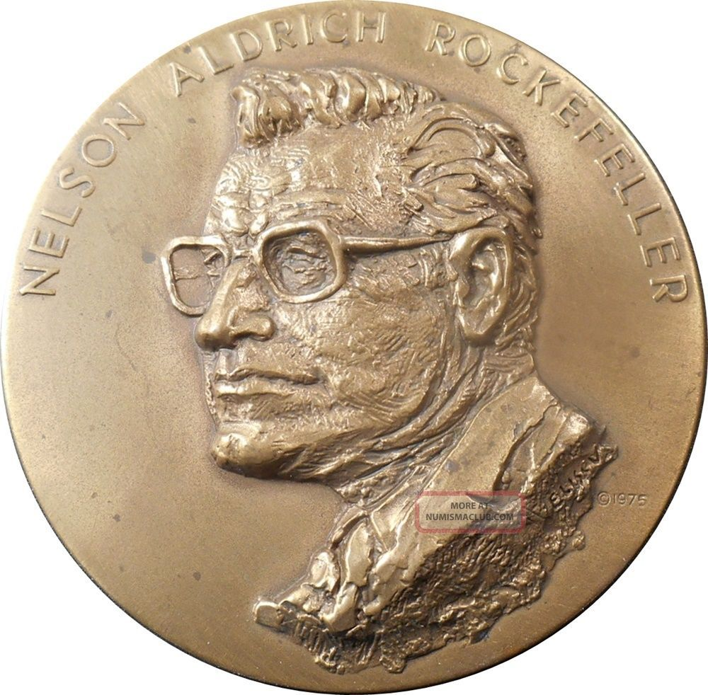 Scarce Official Rockefeller Vp Bronze Inaugural Medal By Frank Eliscu,  Maco Exonumia photo