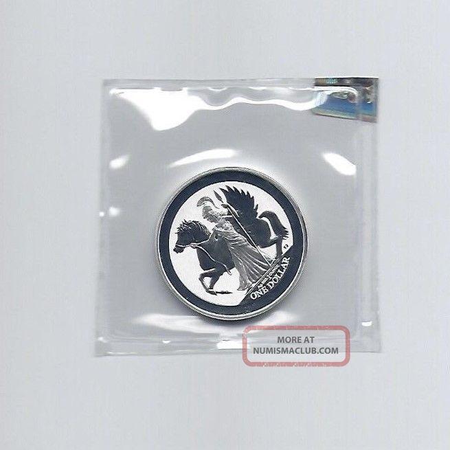 2017 British Virgin Islands 1 Oz 999 Fine Silver Pegasus Reverse Proof Coins photo