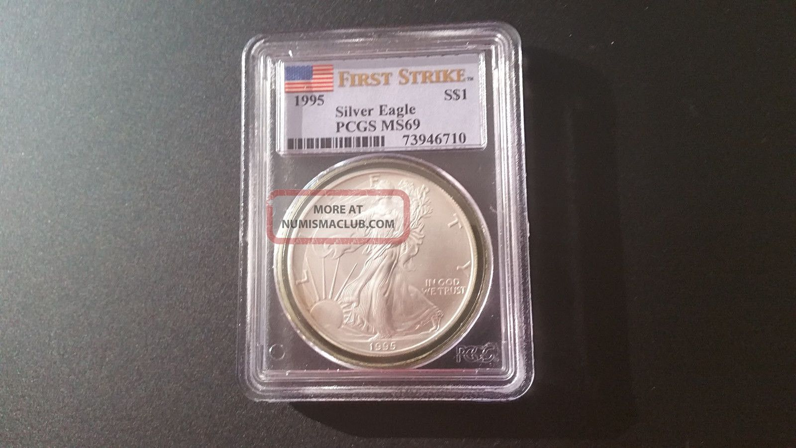 1995 Silver Eagle First Strike Pcgs 69 Silver photo