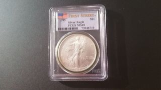 1995 Silver Eagle First Strike Pcgs 69 photo