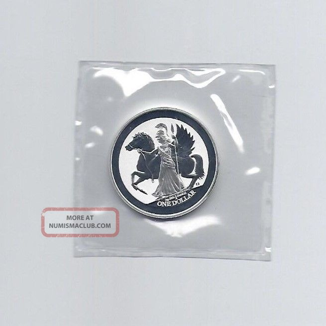 2017 British Virgin Islands 1 Oz 999 Fine Silver Pegasus Reverse Proof Coins photo