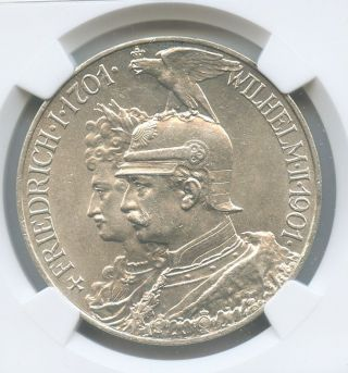 Germany - Prussia.  1901a 5 Mark.  Km 526.  Ngc Ms - 62.  Ruler: Wilhelm Ii. photo