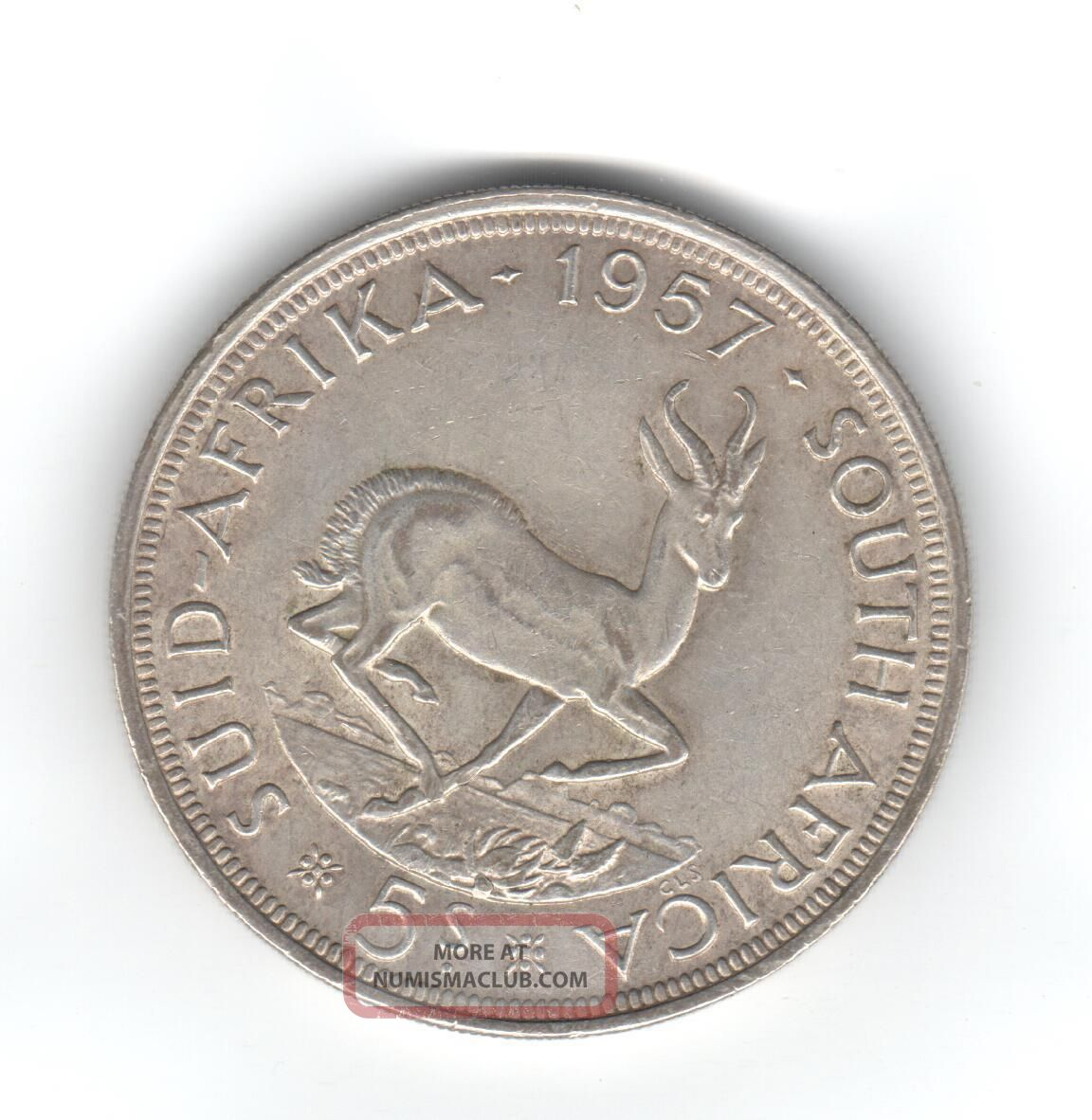 South Africa 1957 Five (5) Shillings Vf South Africa photo