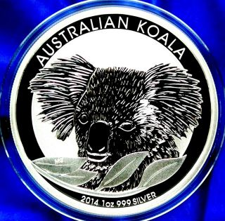 2014 Australia Koala 1 Troy Oz (31.  1g) 99.  9 Pure Silver New/mint/unc Bullion photo