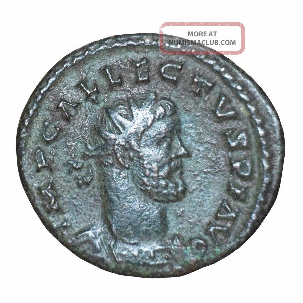 British Usurpers: Allectus Bronze Antoninianus Camulodunum 293 - 295 Ad. Coins: Ancient photo