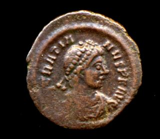 461 - Indalo - Gratian.  Ae14.  Constantinople.  C.  378 - 383 Ad.  Ric.  - photo