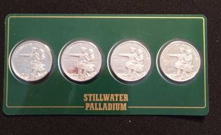 2004 Stillwater 1/4 Oz.  9995 Fine Palladium Lewis & Clark / Buffalo (4 - Pack) photo
