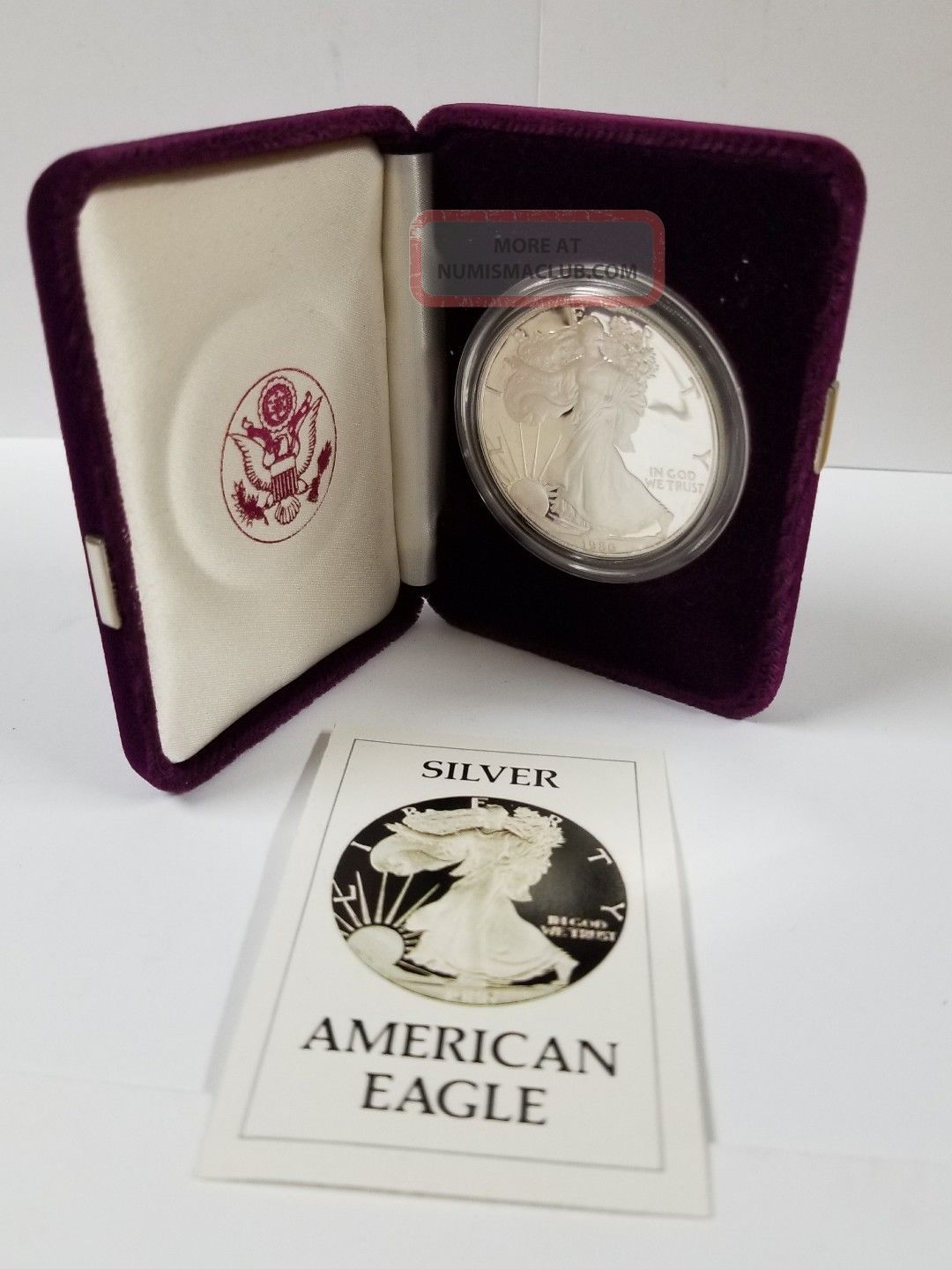 1986 - S Proof American Eagle Silver Dollar Silver photo