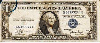 Series 1935 C One Dollar Silver Certificate==fair photo