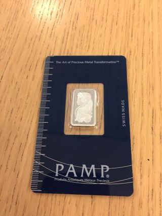 5 Gram Silver Bar Pamp Suisse photo