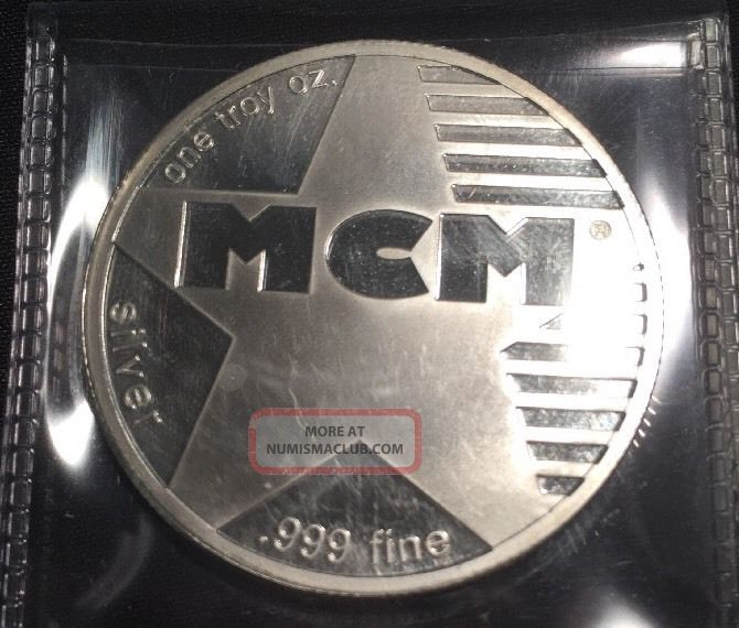 Mcm One Troy Ounce.  999 Fine Silver Silver photo