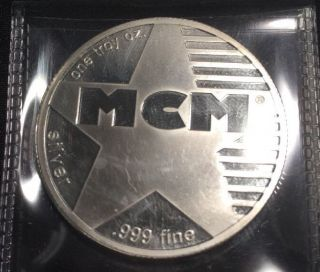 Mcm One Troy Ounce.  999 Fine Silver photo