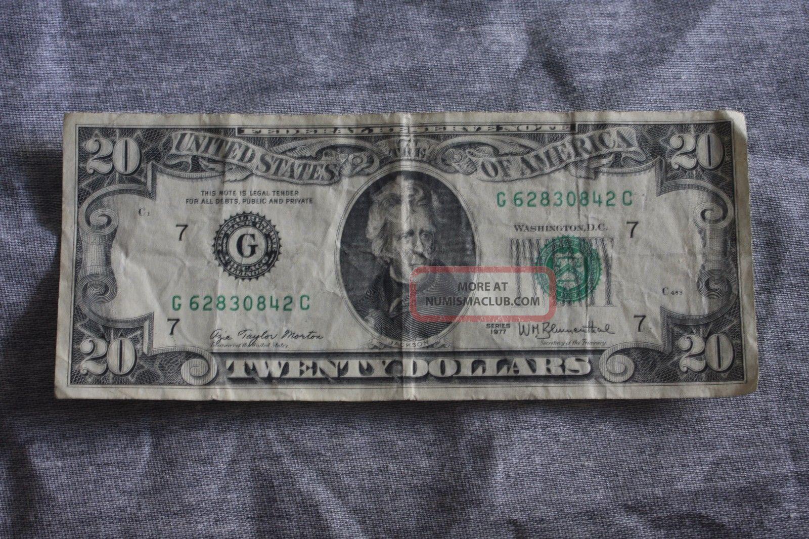 1977 Twenty Dollar Bill Small Size Notes photo