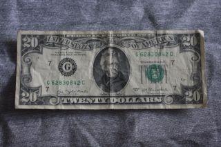 1977 Twenty Dollar Bill photo