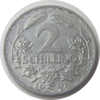 Elf Austria 2 Schilling 1947 Eagle photo