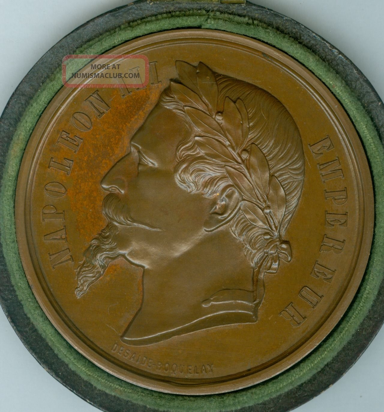 1865 French Award Medal For The Exposition Of Cannes Races,  By Desaide - Roquelay Exonumia photo