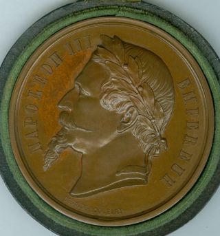 1865 French Award Medal For The Exposition Of Cannes Races,  By Desaide - Roquelay photo