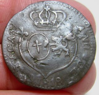 1818 (small Date) (venezuela - Caracas) 1/4 Real - - Royalist Coinage - - photo