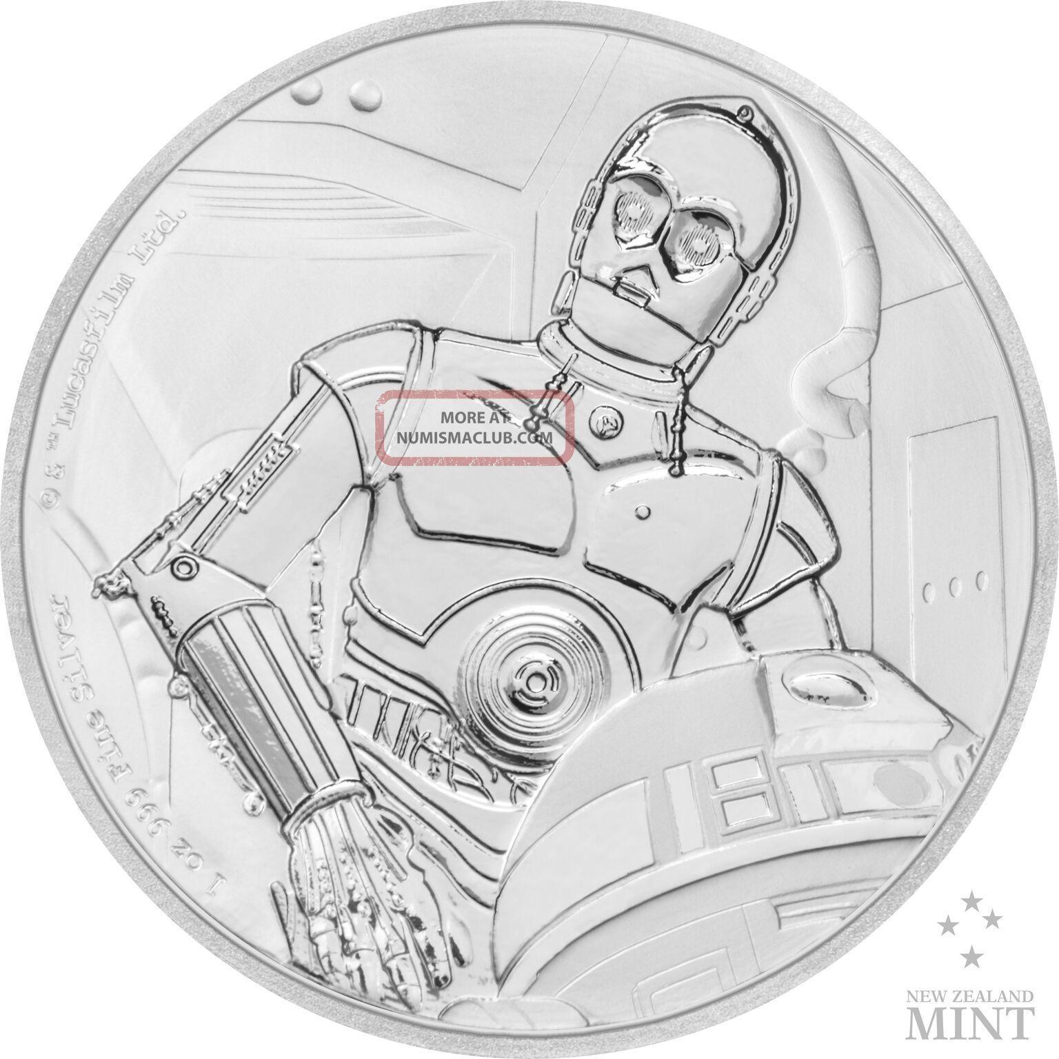 Star Wars Classics: C - 3po 1 Oz.  Silver Coin Australia & Oceania photo