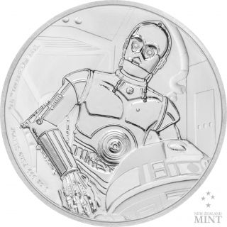 Star Wars Classics: C - 3po 1 Oz.  Silver Coin photo