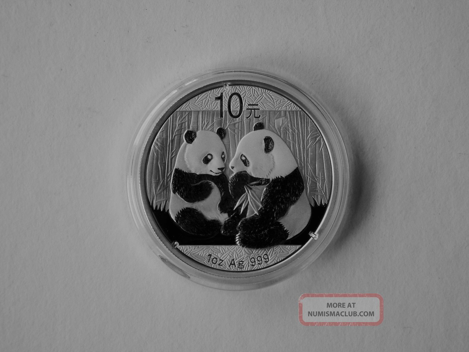 2009 China Panda 10 Yuan 1 Oz.  999 Silver Coin Bu In Capsule China photo