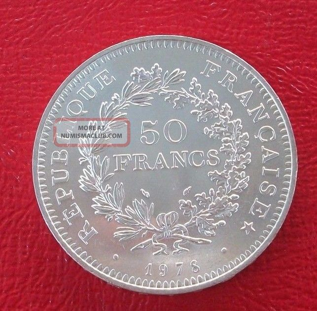 1978 France 50 Franc Hercules Silver Coin/50 Francs Piece Km 941.  1 Mexico photo
