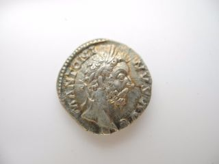 Marcus Aurelius M Antoninus Cos Iii Minerva Ancient Roman Silver Coin With Paper photo
