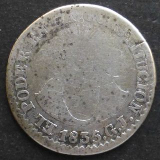Ecuador 2 Reales 1835gj Km 14 Scarce photo