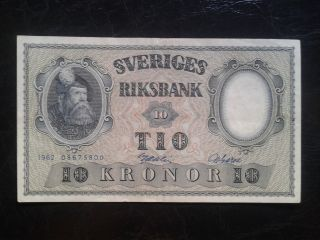 Sweden 10 Kronor 1962,  Vf, photo