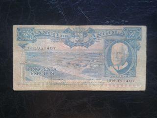Angola 50 Escudos 1962,  F photo