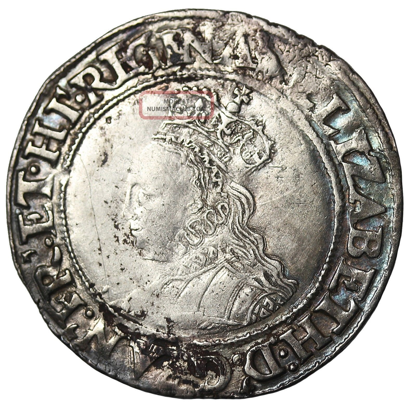 Great Britain 1560 - 61 Ad Elizabeth I Silver Shilling S.  2555 2nd Coinage Bust 1g UK (Great Britain) photo