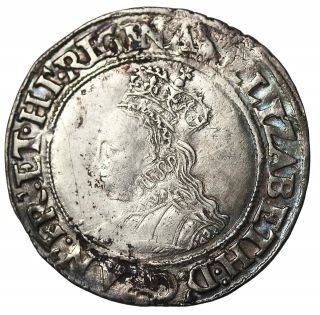 Great Britain 1560 - 61 Ad Elizabeth I Silver Shilling S.  2555 2nd Coinage Bust 1g photo