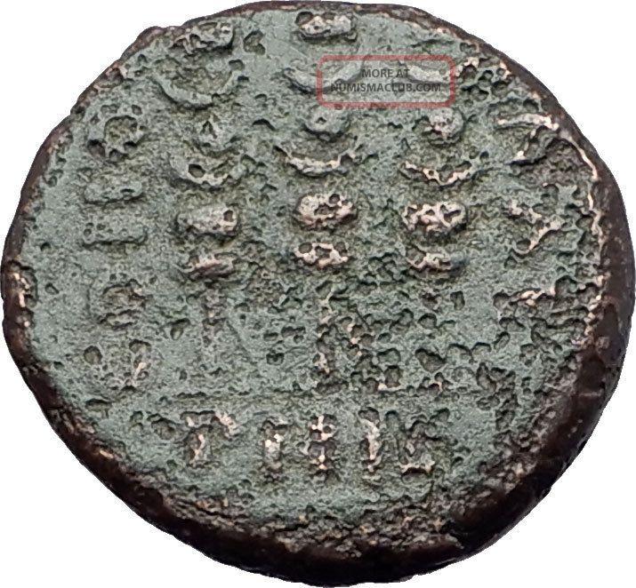 Augustus Victory Over Julius Caesar Assassins Brutus & Cassius Roman Coin I61115 Coins: Ancient photo