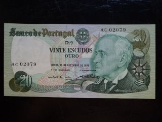 Portugal 20 Escudos 1978,  Unc photo