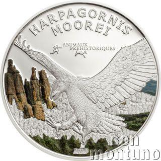 2013 Gabon - Haast ' S Eagle Harpagornis Moorei - Prehistoric Wildlife Silver Coin photo