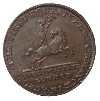 1790 ' S Great Britain Middlesex Lyceum Theatre Halfpenny Conder Token D&h - 362a photo