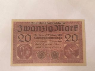 Germany 20 Mark 1918 Vf, photo