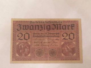 Germany 20 Mark 1918 Vf, photo
