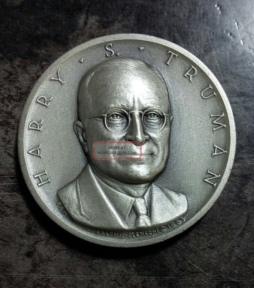 Medallic Art Presidential Silver Medal Harry S.  Truman 0.  82 Oz.  Silver Exonumia photo