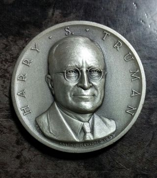 Medallic Art Presidential Silver Medal Harry S.  Truman 0.  82 Oz.  Silver photo