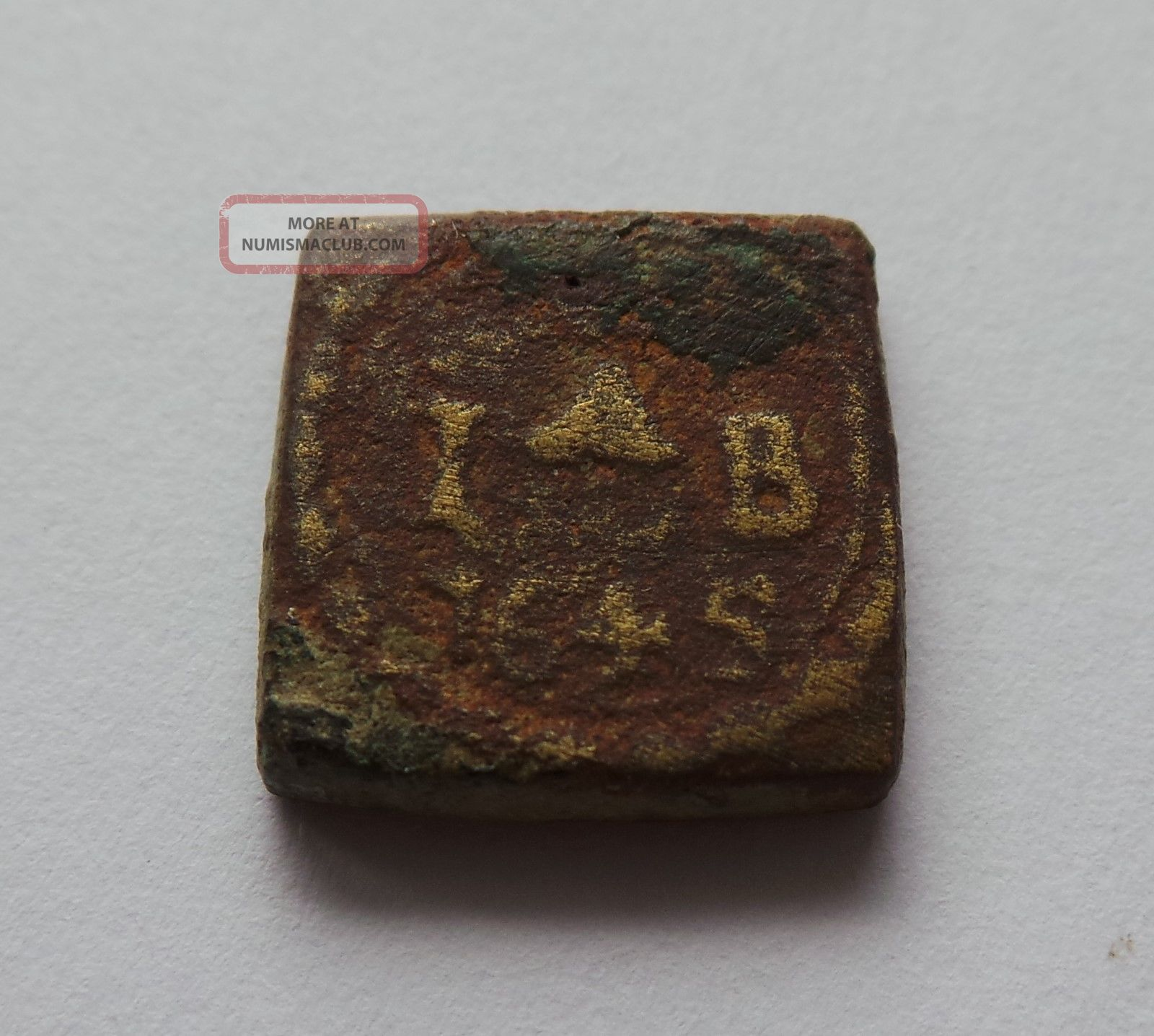 Bronze Coin Weight Dated 1645 - Coinweight - Detecting Find Amsterdam. Europe photo