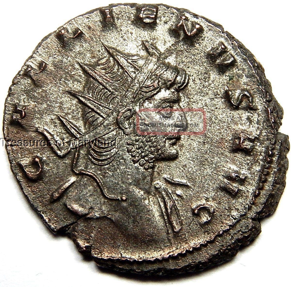 253 - 268 Ad Gallienus Silvered Antoninianus