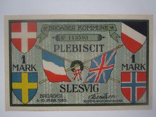 1920 Denmark Broager 1 Mark Plebiscit photo