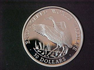 1990 Cook Island $50.  Silver