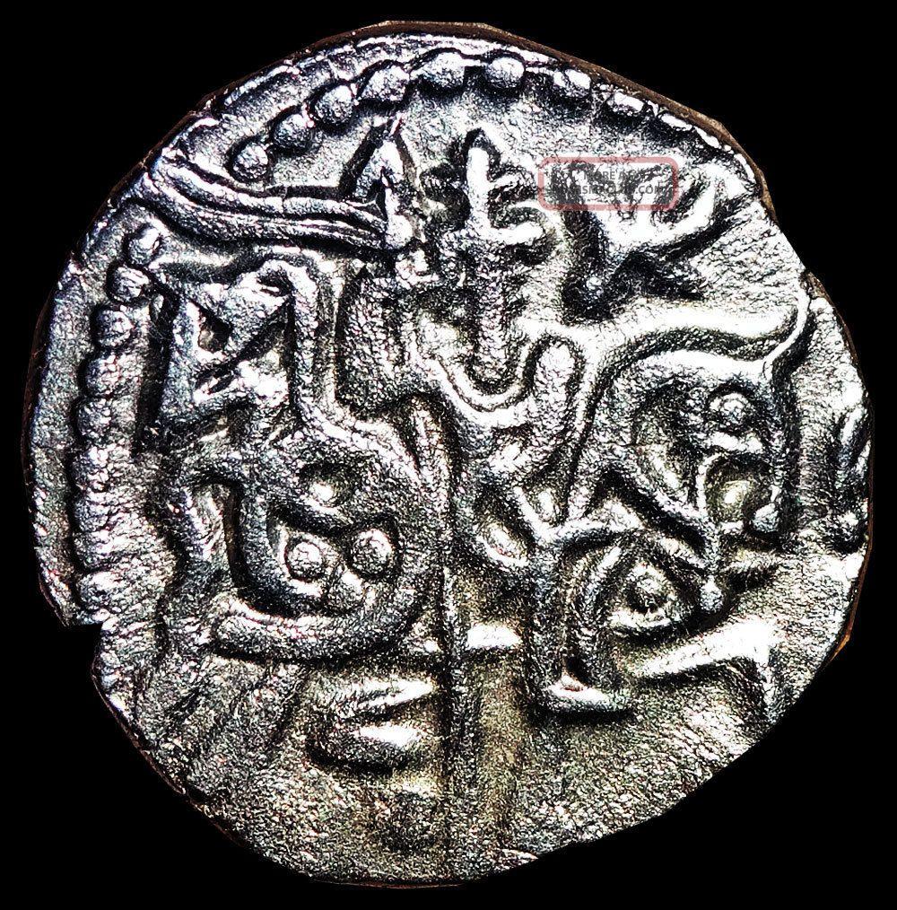 Ancient India - Spalapati Deva - Silver Jital (850 - 970 Ad) Horse & Bull Rj1 India photo