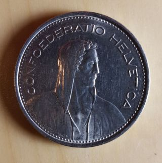 Switzerland 1968 Coin,  5 Fr Confoederatio Helvetica photo